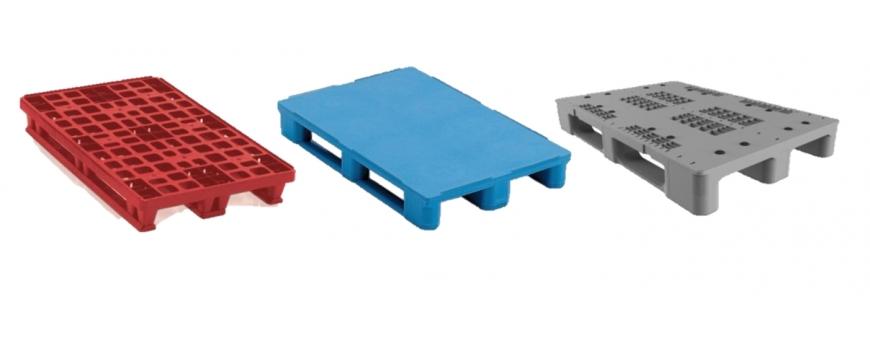 palettes en PEHD très résistantes pour le stockage en milieu humide ou le transport de produits.
