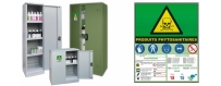 armoires de sécurité pour stocker les pesticides, fongicides, herbicides